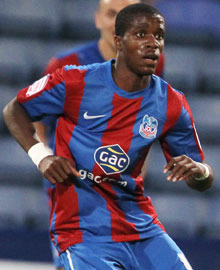 Zaha: Suspended for match against Brum