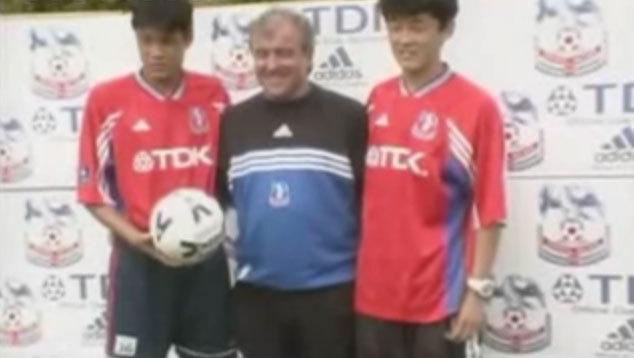 Fan Zhiyi and Sun Jihai with Terry Venables