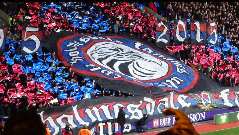 The Holmesdale Fanatics celebrated their 10th birthday to some effect