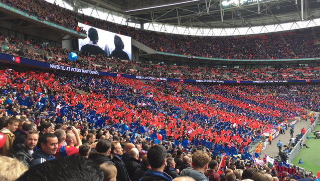 Wembley - sea of red and blue