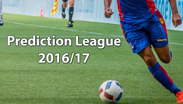 Prediction League 2016/17