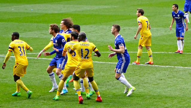 Jamesey's golden moment for '16-17…Chelsea pipped by 2-1 at the Bridge.