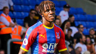 Zaha: One of three players on four yellow cards going into the match against West Ham