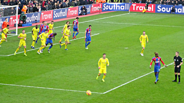 Eagles attack Chelsea in Holmesdale end in final minutes but it was too late.