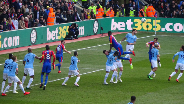 Benteke borrows a City back to climb upon in a rare Palace attack