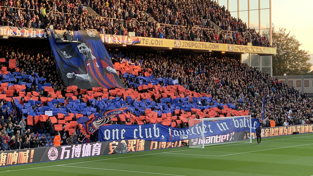Holmesdale Fanatics display for Joel Ward, who completed 200 league appearances for the Eagles