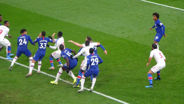 Palace attack Chelsea at the Shed End but aggression was rare in this match