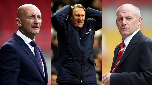 Ian Holloway, Neil Warnock, Steve Coppell