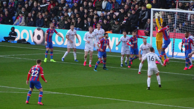 Benteke duels with the Sheffield Utd keeper but the elusive goals just won't come