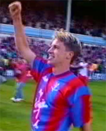 Alan Pardew celebrates after the final whistle