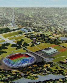 View of the proposed Crystal Palace stadium