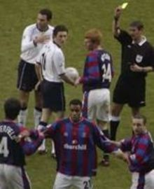 Ben Watson gets booked as Palace line up a wall