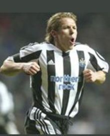 Bellamy celebrates with his famous chicken impression