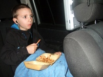 Chips in the car before the match