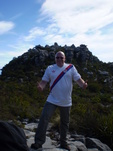 magicdaz at the top of Table Mountain, Cape Town, South Africa