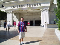 Mark Bolton outside The Ceasers Palace Hotel in Las Vegas
