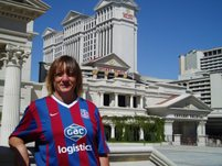 Tracy Bolton outside the Ceasers Palace in Las Vegas