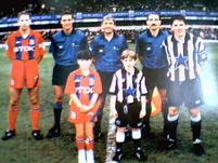 eagleman13's daughter as mascot (aged 8 at st james pk last game of the season 95/96)
