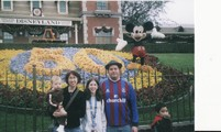 Gareth Richards and the family at Disneyland