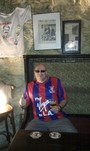Magicdaz in the seat Ollie Reed died in while filming Gladiator - his local watering hole in Malta - The Pub, Valletta.