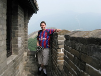 Keith on the Great Wall (not like the Palace back four!!)