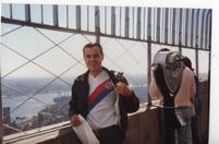 Fireball Phill at The Empire State Building in 1985