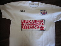 T-shirts with walkers names were distributed