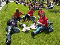 HOLers tramping at Wembley.JPG