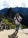 Isabel Rice by Macchu Picchu, in Peru
