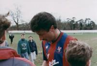 Ian Evans signing autographs