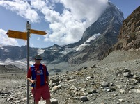 Alex at Hirli, 2,780m up Matterhorn, Switzerland – sent in by Alex Park