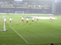 Palace Boys come out to warm up