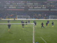 Arsenal lads come out to warm up