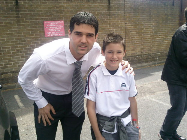 Selhurst Mick's grandson Adam with Julian Speroni