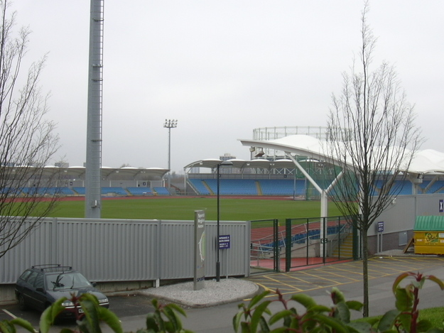 Man City's reserve team stadium - impressive.JPG